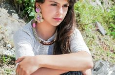 """Classic and chic pieces of jewellery created from unmatched forms of raw stones/minerals found in """"Mother Nature"""", in contrast with the. Ricardo Rodriguez, Crochet Necklace, Chic, Jewelry, Design, Fashion, Elegant, Jewlery, Moda"""