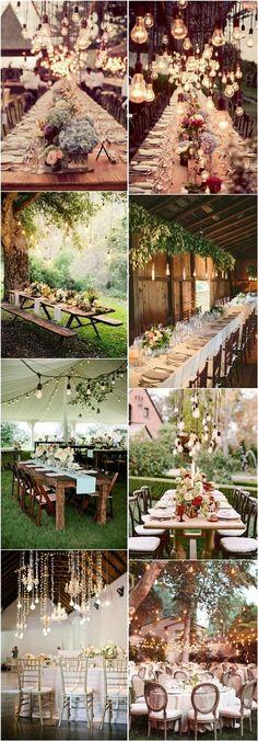 20 Stunning Rustic Edison Bulbs Wedding Decor Ideas | http://www.deerpearlflowers.com/20-stunning-rustic-edison-bulbs-wedding-decor-ideas/