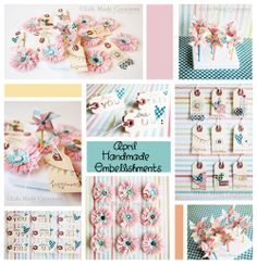 So many cute ideas! Life Made Creations: Handmade Embellishments http://lifemadecreations.blogspot.com/2012/03/handmade-embellishments.html#