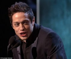 Television star: Pete Davidson of Saturday Night Live was among the roasters