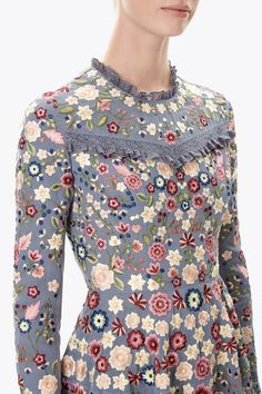 Floral Jet Long Sleeve Prom | Needle & Thread