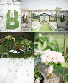 Love the moss letter-cute for the from door in spring!