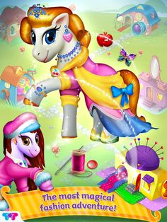 Pony Care Rainbow Resort: Enchanted Spa, Fashion Designer & Makeover Magic! App by Tabtale. Kids Game Apps.