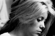 """ Catherine Deneuve during hair tests for The Umbrellas of Cherbourg (1964), photographed by Agnès Varda """