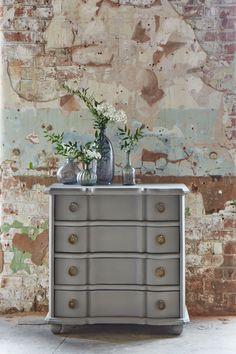 LOFTY LIVING, Spring/Summer 2015. Featuring the Claude chest of drawers. #swooneditions #furniture #interior #interiorinspiration #loftyliving #industrialroom #bedroom #brickwalls #chestofdrawers #plasterwall #grey