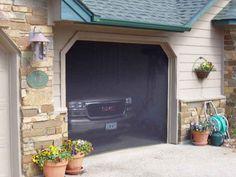 screened in garage door