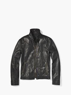 Wire Collar Leather Jacket John Varvatos, Leather Fashion, Collars, Leather Jacket, Wire, Jackets, Clothes, Fall, Studded Leather Jacket