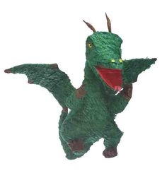 "This green dragon pinata is perfect for any party. 21 1/4"" x 7"" x 15"" This Pinata is the traditional style, so get out your Pinata bat and blindfold and get to the sweets (sold separately) Please Note"
