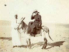 On a donkey at Saqqara Dec 11 1903 Archaeological Discoveries, Egypt Travel, Reference Images, Travelogue, Old Photos, Donkeys, Travelling, Women's, Old Pictures