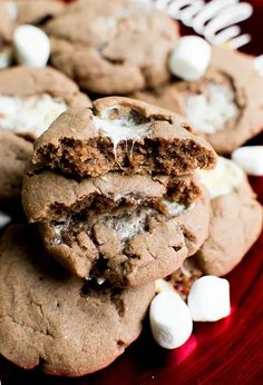 Hot Chocolate Sugar Cookies - a fun way of making cookies- simply add hot chocolate and marshmallows to make a chewy hot chocolate cookie! #stuckonsweet #cookies #recipe #hotchocolate
