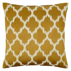 Buy John Lewis Ikat Cushion, Saffron Online at johnlewis.com