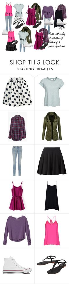 """Packing"" by california-babe on Polyvore featuring Cheap Monday, Madewell, Alexander Wang, Milly, Converse and Cocobelle"