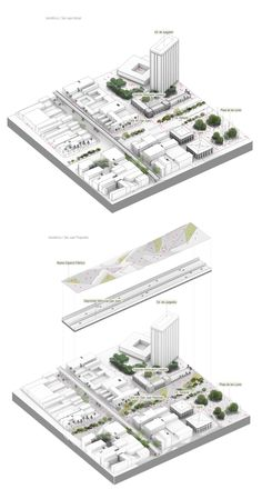 Image Courtesy of célula / María Paula Vallejo Arquitectura Architecture Concept Drawings, Pavilion Architecture, Landscape Architecture, Architecture Design, Architecture Diagrams, Map Diagram, Urban Design Diagram, Architecture Presentation Board, 3d Modelle