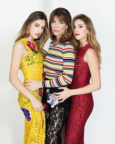 Sistine Stallone Jennifer Flavin Sophia Stallone on the cover of @grazia_it January 2017. #DGCelebs #DGWomen Photo by @julianhargreaves Styling by @dieciminutidiapplausi  via DOLCE & GABBANA OFFICIAL INSTAGRAM - Celebrity  Fashion  Haute Couture  Advertising  Culture  Beauty  Editorial Photography  Magazine Covers  Supermodels  Runway Models