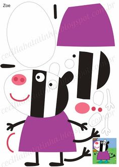 Moldes para TMoldes para Todo: :: Peppa Pig y amigos ::odo: :: Peppa Pig y amigos :: Molde Peppa Pig, Cumple Peppa Pig, Peppa Pig Y George, George Pig, Pig Crafts, Felt Crafts, Peppa Pig Family, Felt Finger Puppets, Pig Birthday