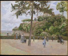 The Public Garden at Pontoise - Camille Pissarro (French, Charlotte Amalie, Saint Thomas 1830–1903 Paris) Date: 1874, première exposition impressionniste