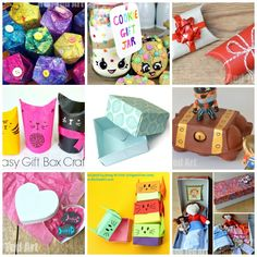 DIY Gift Box Ideas - Red Ted Art diy craft box for kids - Kids Crafts Diy Craft Projects, Diy And Crafts Sewing, Diy Crafts For Kids, Kids Diy, Craft Ideas, Diy Ideas, Art Crafts, Craft Art, Preschool Christmas Crafts
