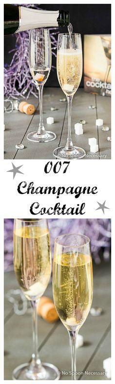 007 James Bond Champagne Cocktail {& Bonus French 75 Cocktail}