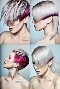 Vidal Sassoon by Ryo-Says-Meow on DeviantArt Creative Hairstyles, Funky Hairstyles, Supernatural Hair, Vidal Sassoon Hair Color, Bob Hair Color, Creative Hair Color, Competition Hair, Corte Y Color, Hair Photography