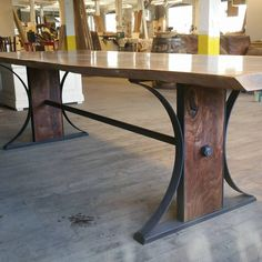 Perfect And Unique Industrial Table Design Ideas. Here are the And Unique Industrial Table Design Ideas. This article about And Unique Industrial Table Design Ideas was posted  Iron Furniture, Western Furniture, Steel Furniture, Industrial Furniture, Rustic Furniture, Furniture Design, Furniture Ideas, Furniture Dolly, Furniture Stores