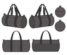 BOSTON BAG vector illustration flat sketches template