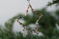 day wire bead Christmas Ornaments   wire + bead ornaments   Christmas