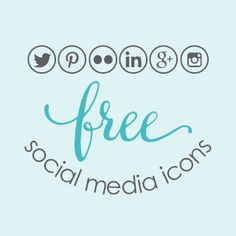 Free social media icons for your blog. So easy to upload and they are adorable!