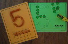 Use number mats with play dough, wikki stix, buttons, magnets, stickers, bingo markers.....