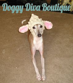 3c1154b7b39 Items similar to Dog Hat - Lamb Hat Easter Hat Photo Prop Costume for Dog  or Cat under 25 pounds on Etsy
