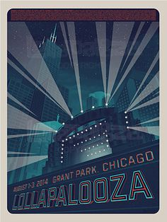 2014 Artist Poster Lollapalooza – Commemorative Edition #gigposter
