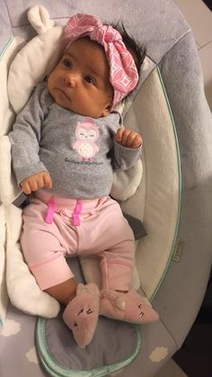 Chloe Nicole Cute Baby Girl, Cute Babies, Baby Kids, Baby Girl Pictures, Mixed Babies, Pretty Baby, Cute Baby Clothes, Baby Girl Fashion, Reborn Babies
