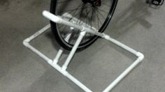 If you have loads of PVC pipes (like I have left over from my sons' high school projects), here's yet another use for them.  Here's a portable DIY bike rack is a perfect solution to keep the bike in its place.  Fuego316 shares his process on Instructables. The tutorial is pretty self-explanatory; all you'll need is about 20 feet of PVC and some L and T connectors. Just arrange them according to the instructions, and you'll be finished in no time.