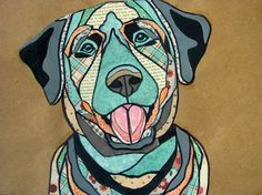 Paper Collage' Animal Portrait - Conway High School Art Project
