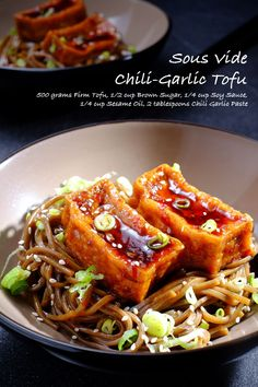 Sous Vide Cooking Makes Tender And Delicious Meats For Asian Style Cooking. Try One Of These 10 Delicious Asian Sous Vide Recipes Eggplant Recipes, Tofu Recipes, Vegetable Recipes, Asian Recipes, Vegetarian Recipes, Cooking Recipes, Healthy Recipes, Cooking Pasta, Vegetable Dishes