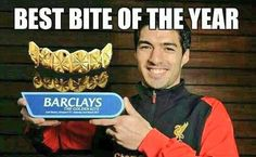 Solid gold: Suarez picked up another award after a great season, according to some on Twit...