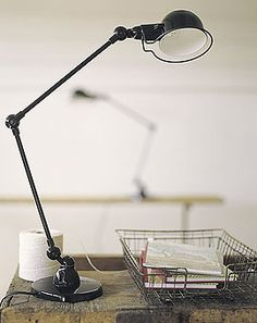French industrial lamp. #vintage, #lighting, #office