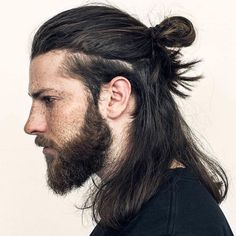 14 Coolest Long Hairstyles for Men + Quick Hair Growth Tips & Styling Guide Mens Hairstyles Widows Peak, Man Bun Hairstyles, Quick Hairstyles, Elegant Hairstyles, Hairstyles 2016, Long Hairstyles For Men, Formal Hairstyles, Latest Hairstyles, Vintage Hairstyles