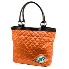 Miami Dolphins NFL Quilted Tote (Orange)