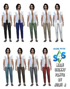 Male Skinny Pants at Julietoon – Julie J via Sims 4 Updates