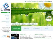 Layout de Site Criado para a Empresa Sigma #criative #site #criacaodesites #agencia www.visiondesign.com.br