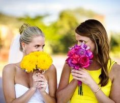 This is adorable for a bride and maid(s) of honor. It would be so cute for me and Emmy and Abby