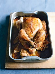 thyme and garlic roasted chicken from donna hay Donna Hay Recipes, Thyme Recipes, Roast Chicken, Lemon Chicken, International Recipes, Main Meals, Easy Healthy Recipes, Dinner Recipes, Dessert Recipes