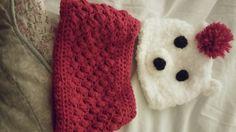 Polar bear hat and cowl