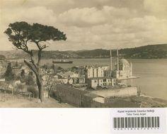 1930 – 1950 arası dönemden Ortaköy sırtlarından İstanbul Boğazı ve Büyük Mecidiye Camii
