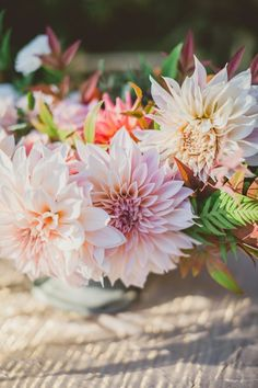 Dahlia centerpiece | Clare Day Flowers