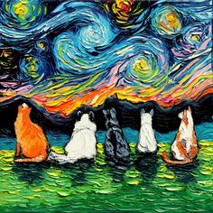 Shop a great selection of Cat Wall Art Canvas Print feline Starry Cats Aja inches Van Gogh. Find new offer and Similar products for Cat Wall Art Canvas Print feline Starry Cats Aja inches Van Gogh. Canvas Art Prints, Painting Prints, Framed Canvas, Framed Art, Art Picasso, Frida Art, Cat Art Print, Art Sculpture, Dog Paintings