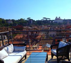 Rooftop mornings at The First Hotel www.thefirsthotel.com #rome #rooftop #italy