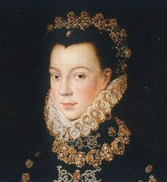 Sofonisba Anguissola (Italian artist, 1532-1625) ~ Elizabeth of Valois, Princess of France and Queen of Spain. The painting is focused on her and not on the background.