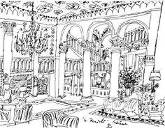 Drawing by Théo Tobiasse, Le Danieli.