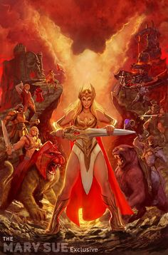 She-Ra's New Look In DC's He-Man and the Masters of the Universe #18 out in October 2014. Cover by Stjepan Šejić